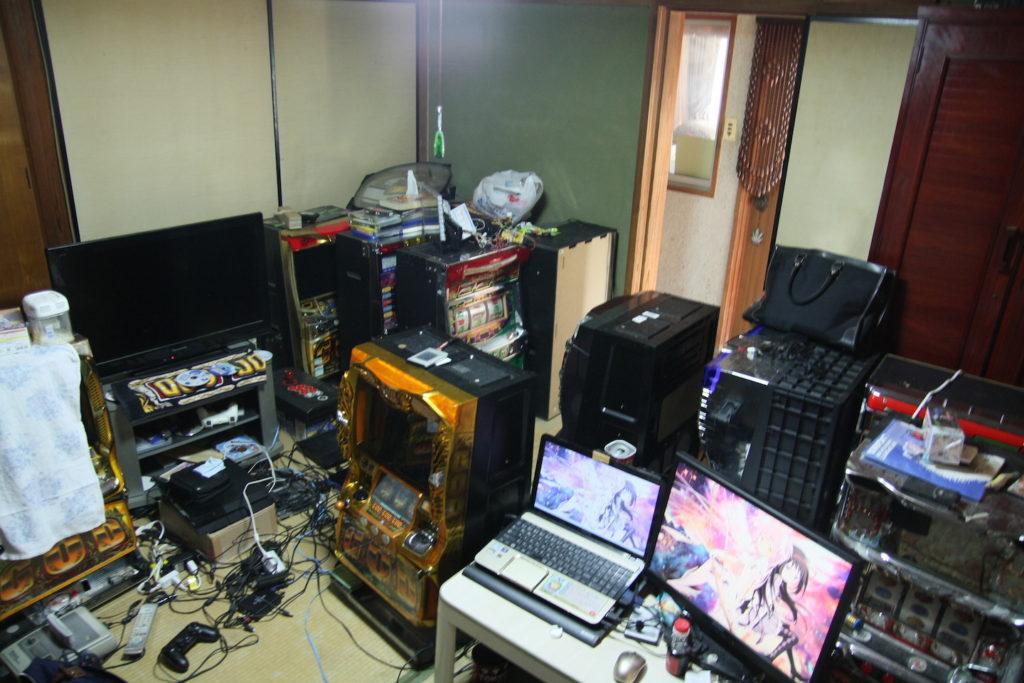 実家の一室にある配信部屋