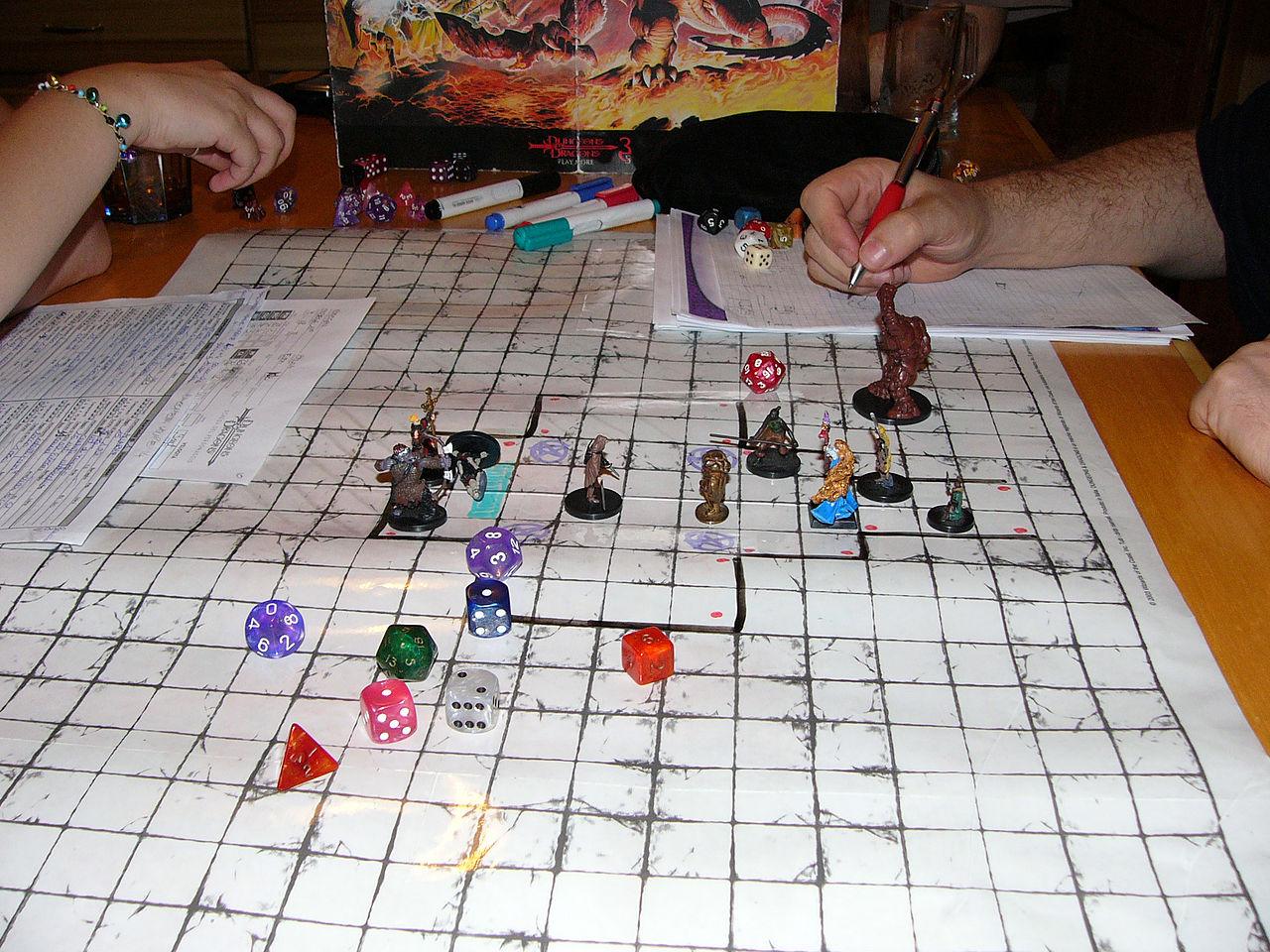 『ダンジョンズ&ドラゴンズ』プレイ中の様子。(画像はWikipediaより)