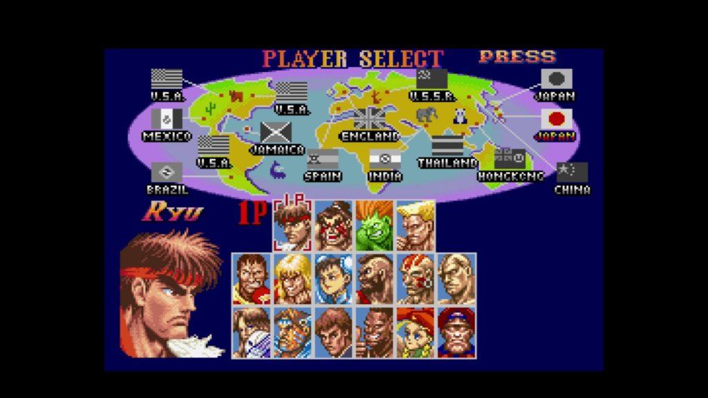 スーパーストリートファイターII ザ ニューチャレンジャーズ (1994年6月25日/格闘ACT/カプコン) (※画像はWiiUバーチャルコンソール版です。任天堂ホームページより)