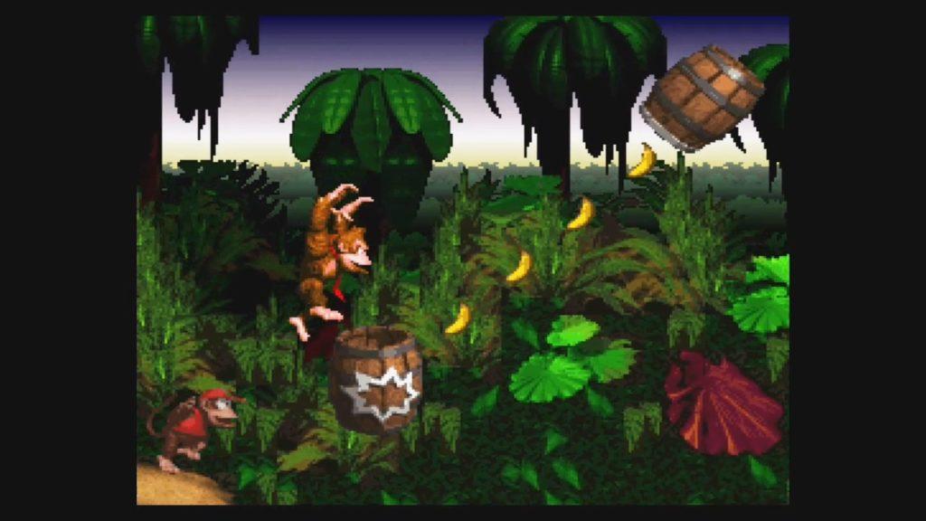 スーパードンキーコング(1994年11月26日/ACT/任天堂) (※画像はWiiUバーチャルコンソール版です。任天堂ホームページより)