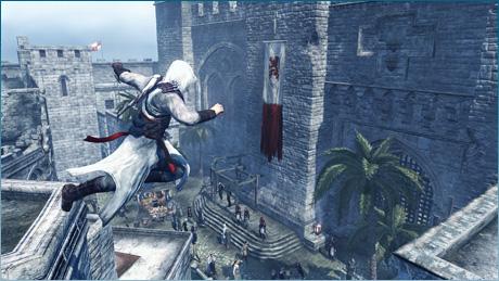 ※『アサシン クリード』 2007年にユービーアイソフトから発売された、オープンワールドアクションゲームのシリーズ第1作。十字軍とイスラム勢力が聖地エルサレムを争う12世紀の中東を舞台に、アサシン(暗殺者)の主人公が戦いを繰り広げる。 (画像はアサシン クリード - 公式サイトより)