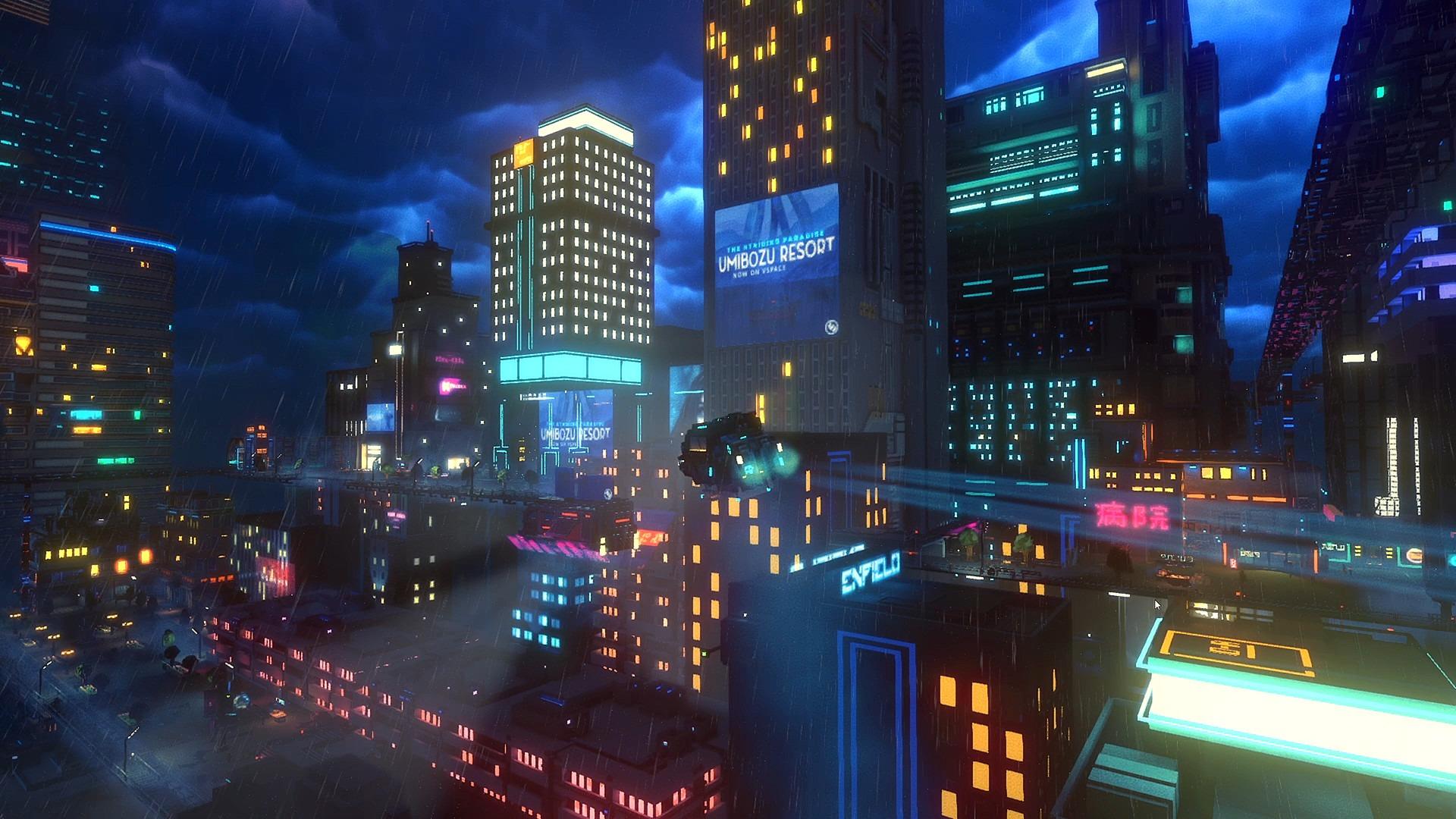サイバーパンク都市で運送屋になる Cloudpunk が4月23日に発売決定 ネオンの街をエアカーで駆け巡り町の人々と交流しよう