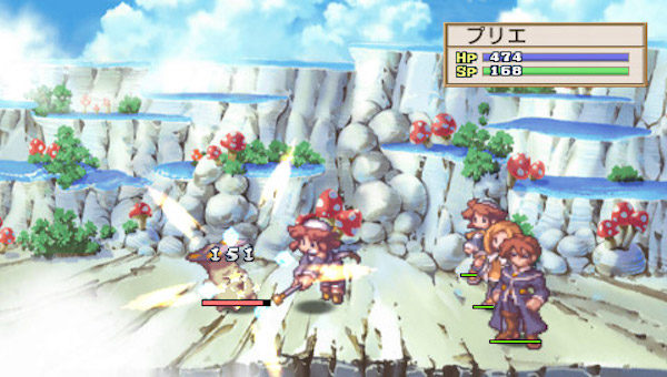 ※1『ラ・ピュセル 光の聖女伝説』:2002年に日本一ソフトウェアからプレイステーション2向けに発売されたシミュレーションRPG。聖女会の悪魔祓い、ラ・ピュセルとなった主人公・プリエとキュロットの姉弟が、各地で起きる異変に立ち向かう。かわいらしい絵柄のドット絵やコミカルな掛け合いが繰り広げられるストーリーと、最大レベル9999まで上げられアイテムの合成などもあるやりこみ要素でカジュアル層からヘビーユーザーまで幅広い層から支持を得た。さらなるやり込み要素を増やした『ラ・ピュセル 光の聖女伝説 2周目はじめました』やPSP移植版の『ラ・ピュセル†ラグナロック』も発売。(画像は、日本一ソフトウェア オフィシャルサイトより)