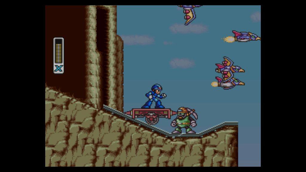 ロックマンX(1993年12月17日/ACT/カプコン) (※画像はWiiUバーチャルコンソール版です。任天堂ホームページより)