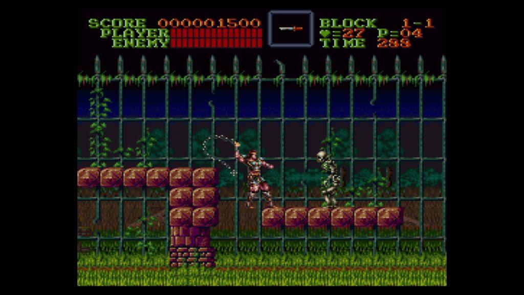 悪魔城ドラキュラ(1991年10月31日/ACT/コナミ(現コナミデジタルエンタテインメント)) (※画像はWiiUバーチャルコンソール版です。任天堂ホームページより)