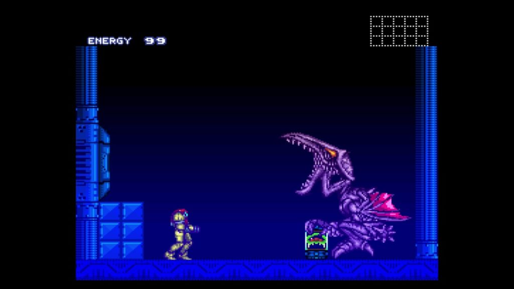スーパーメトロイド(1994年3月19日/ACT/任天堂) (※画像はWiiUバーチャルコンソール版です。任天堂ホームページより)